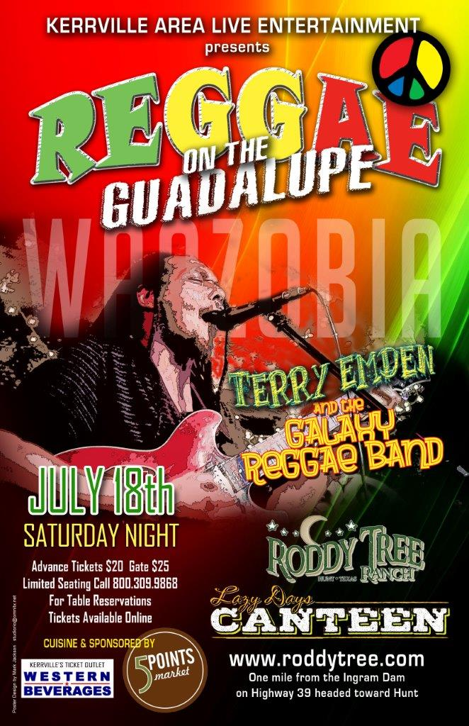 Reggae on the River! Lively Up Your Live, One Love!